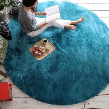 Бирюзовый круглый ковер JumKids Sweet Maldives