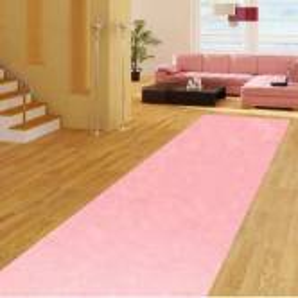 Розовая ковровая дорожка с высоким ворсом JumKids